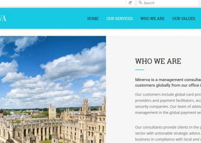 Web Content for Management Consultancy Firm Minerva Partnership