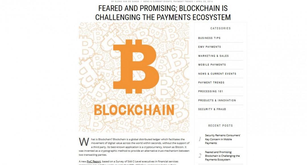 Fintech Blog about Blockchain