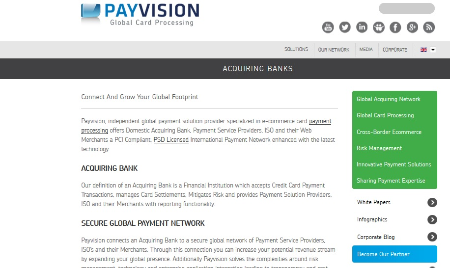 B2B Web Content Global Payments Acquirer Payvision