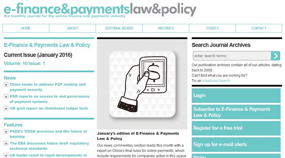 Payment Counsel Article in E-ComLaw.com
